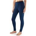 David Archy Womens Light Weight Wicking Thermal Leggings (L,Navy Blue)