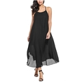 Zeagoo Womens Casual Spaghetti Strap Halter Chiffon Sundress Long Maxi Beach Party Dresses