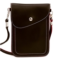 DEEZONE PU Leather Small Crossbody Bag Wallet Purse Cellphone Pouch with Shoulder Strap
