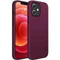 Miracase Compatible with iPhone 12 Case and iPhone 12 Pro Case 6.1 inch(2020),Liquid Silicone Gel Rubber Full Body Protection Shockproof Drop Protection Case(Wine Red)