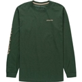 파타고니아 Patagonia Text Logo Long-Sleeve Responsibili-T-Shirt - Mens