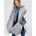 Asos ASOS Hooded Cape With Pockets