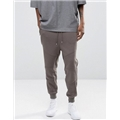 Asos ASOS Tapered Biker Joggers With Zip Pockets In Gray