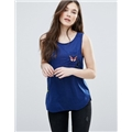 Asos Brave Soul Tank With Butterfly Badges