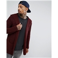 Asos ASOS Ultimate Knitted Cardigan With Hood In Burgundy