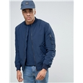 Asos River Island MA1 Bomber With Rouched Detail In Navy