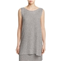 Eileen Fisher Boat Neck Sleeveless Knit Tunic - 100% Exclusive
