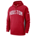 Nike NBA City Edition Courtside PO Hoodie - Mens / NBA | Houston Rockets | University Red | Earned