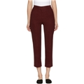Brock Collection Burgundy Corduroy Teddy Trousers