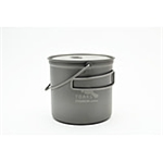 TOAKS Titanium 1100ml Pot w/Bail POT-1100-BH, Color: Grey, Weight: 5.1, Capacity: 1100, Diameter: 115,