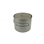 TOAKS Titanium 1300ml Pot POT-1300, Color: Grey, Weight: 4.6, Capacity: 1300, Diameter: 130, w/ Free Shipping