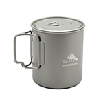TOAKS Titanium 750ml Pot POT-750, Color: Grey, Weight: 3.6, Capacity: 750, Diameter: 95, Fabric/Material: Titanium,