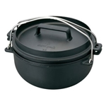 Snow Peak Cast Iron Oven CS-520, Size: 26, Weight: 16.8, Capacity: 22 cm Pot, 108 fl oz, Pan, 54 fl oz 26 cm Pot,182 fl oz, Pan,87 fl oz, w/ Free S&H