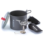 Soto New River Pot And Amicus w/ Igniter OD-1NVE NR, Included Accessories: Mesh Storage Bag, Color: Grey, Diameter: 120, w/ Free S&H