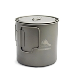 TOAKS LIGHT Titanium 650ml Pot POT-650-L, Color: Grey, Weight: 2.8, Capacity: 650, Diameter: 94.4,
