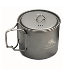 TOAKS LIGHT Titanium 550ml Pot POT-550-L, Color: Grey, Weight: 2.6, Capacity: 550, Diameter: 95, Fabric/Material: Titanium,