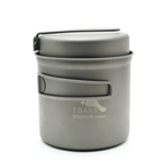 TOAKS Titanium 1100ml Pot w/Pan CKW-1100, Color: Grey, Volume: 1100, Weight: 5.6, Capacity: 280,
