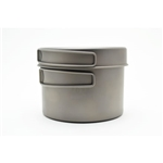 TOAKS Titanium 1300ml Pot w/Pan CKW-1300, Color: Grey, Weight: 6, Capacity: 1300, Diameter: 130, Fabric/Material: Titanium, w/ Free S&H