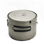 TOAKS Titanium 1600ml Pot w/Bail POT-1600-BH, Color: Grey, Weight: 7.4, Capacity: 1600, w/ Free Shipping