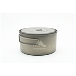 TOAKS Titanium 900ml D130mm Pot POT-900-D130, Color: Grey, Weight: 3.7, Capacity: 900, Diameter: 130,