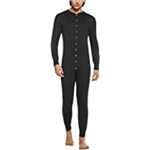 Hotouch Mens One Piece Pajama Long Thermal Union Suit Button Down Pajamas S-XXL