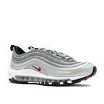 Nike NIKE Air Max 97 Silver Bullet QS (GS) Size 4y (or Womens 5.5) Metallic Silver/Red