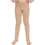 Stretch is Comfort Cotton Girls and Womens Footless Leggings Made in The USA
