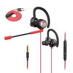 Wired Gaming Earphones with Adjustable Mic, XIAOKOA Earphones with microphone for Laptop Computer Cellphone, E-sport Earburds, Online Hands-free Calling