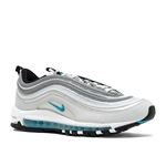 NIKE Womens Air Max 97 QS 917647 001 Pure Platinum/Marina Blue Womens 8.5