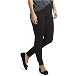 HUE Womens Cotton Ultra Legging with Wide Waistband, Assorted