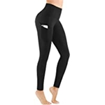PHISOCKAT High Waist Yoga Pants with Pockets, Tummy Control Leggings for Women, Workout 4 Way Stretch Yoga Leggings