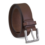 Timberland Mens Leather Belt Classic Jean Belt With Logo Buckle 1.4 Inches Wide (Big And Tall Sizes Available)