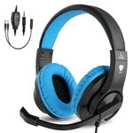 BlueFire 3.5mm PS4 Gaming Headset Bass Stereo Over-Ear Gaming Headphone with Microphone and Volume Control Compatible with PS4, New Xbox One, Xbox One S, Xbox One X, Nintendo Switc
