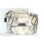 Coach Kristin Embossed Python Clutch 45102 (Ivory)