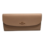 Coach Saffiano Leather Soft Wallet Beechwood F54008