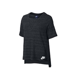 NIKE Womens Split Hi-Low Hem Short Sleeve T-Shirt