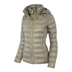 Michael Michael Kors Womens Down Short Packable Puffer Jacket Fall 2017 Taupe