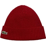 Lacoste Mens Small Croc Ribbed Knit Beanie