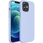 Miracase Compatible with iPhone 12 Case and iPhone 12 Pro Case 6.1 inch(2020),Liquid Silicone Gel Rubber Full Body Protection Shockproof Drop Protection Case(Clove Purple)