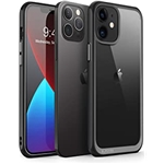 SUPCASE Unicorn Beetle Style Series Case Designed for iPhone 12 (2020) / iPhone 12 Pro (2020) 6.1 Inch, Premium Hybrid Protective Clear Case (Black)