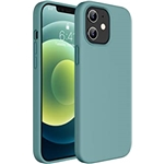Miracase Compatible with iPhone 12 Case and iPhone 12 Pro Case 6.1 inch(2020),Liquid Silicone Gel Rubber Full Body Protection Shockproof Drop Protection Case(Midnight Green)