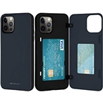 Goospery iPhone 12 Case, iPhone 12 Pro Wallet Case with Card Holder, Protective Dual Layer Bumper Phone Case (Midnight Blue) IP12P-MDB-NVY