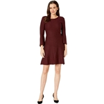 Taylor Bell Sleeve Shift Sweater Dress