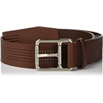 Lacoste Mens Perforated Leather Belt W/Roller Buckle