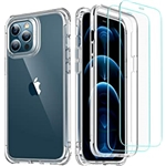 ESR Alliance Series Compatible with iPhone 12 Case/Compatible with iPhone 12 Pro Case (2020) [2 Tempered Glass Screen Protectors] [Full-Body Hybrid Protection] [Shock-Absorbing], 6