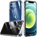 Temdan Designed for iPhone 12 Case, for iPhone 12 Pro Case, [Drop Protection] [Anti-Yellowing] Protective Slim Thin Cover for iPhone 12 for iPhone 12 Pro 2020 ? Clear
