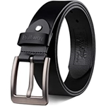 Buffway Mens Belt Heavy Duty Italian Leather Causal Dress Belts for Men with Classic Buckle