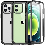 SPIDERCASE for iPhone 12 Case/for iPhone 12 Pro Case, Built-in Screen Protector, Full Protective Case, Camera&Screen Protection, Anti-Scratched Rugged Case for iPhone 12/for iPhone