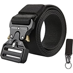 KingMoore Mens Tactical Belt Heavy Duty Webbing Belt Adjustable Military Style Nylon Belts with Metal Buckle