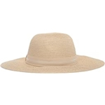 Vince Camuto Grosgrain and PU Banded Floppy Hat